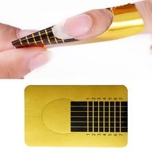 20 шт Форма для ногтей для замачивания от УФ-геля быстрое наращивание ногтей гель золотой профессиональный дизайн ногтей инструменты