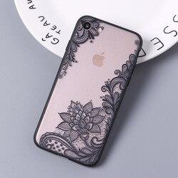 Kafan, сексуальный цветочный чехол для телефона iPhone 7 7 Plus 6 6s 5S SE, задняя крышка с кружевным цветком для iPhone X 8 8 Plus, чехлы для телефонов, аксессуар...