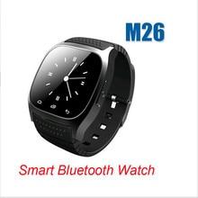 2015ใหม่กีฬาบลูทูธสมาร์ทดูนาฬิกาข้อมือหรูM26 Smartwatchด้วยDial SMSเตือนPedometerสำหรับIOS A ndroid P hone