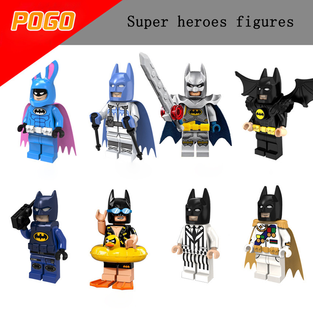 1 stücke Super Heroes Batman Ziegel Spielzeug Joker Robin horror Bausteine Figuren Spielzeug Kompatibel Mit LegoINGly Batman Avengers