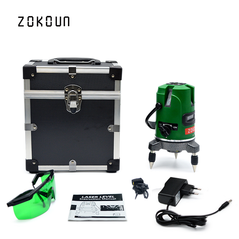 EU plug green laser level 360 degrees self leveling outdoor available line laser leveler could work with detector high quality southern laser cast line instrument marking device 4lines ml313 the laser level