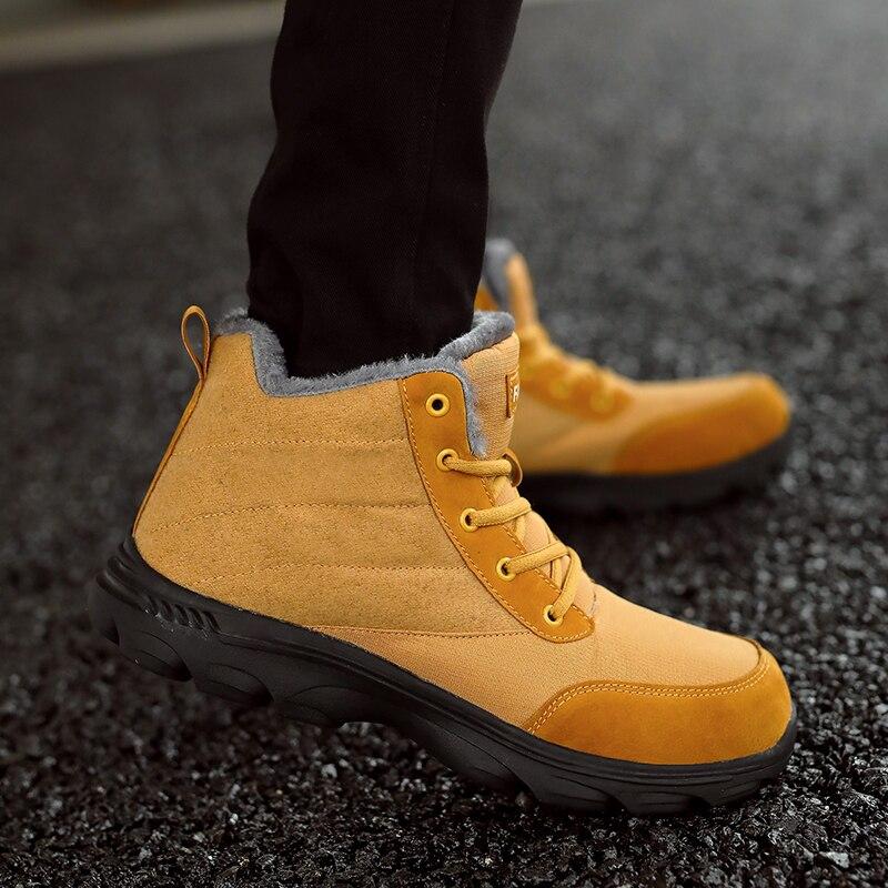 Bottes Mode blue Sneakers Black Lace Homme Hiver Neige Hommes Chaud Cheville Chaussures Imperméables brown D'hiver Simple Up ffqx5rTw