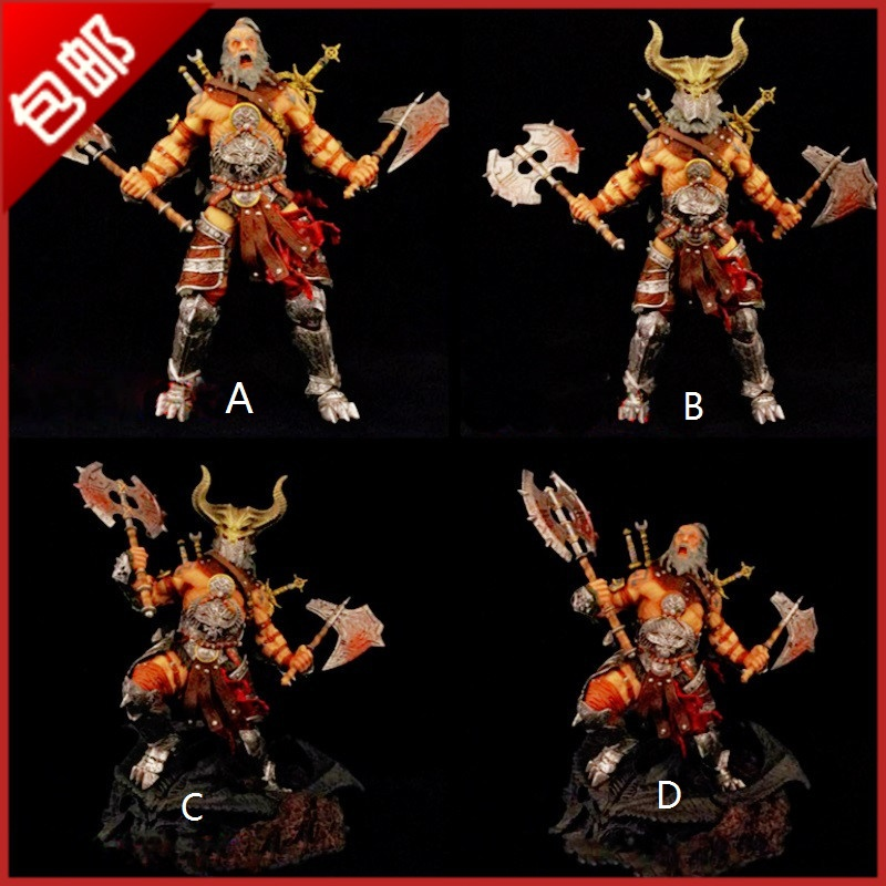 купить 6 pcs/lot DIA BLO iii Barbarian action figure Dia-Blo 3 game toy 30cm / 12