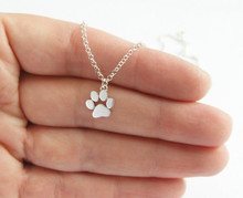 2016 New Choker Necklace Tassut Cat and Dog Paw Print Animal Jewelry Women Pendant Long Cute Delicate Statement Necklaces