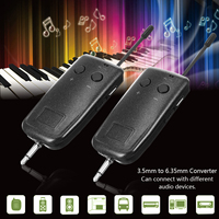 Transmitter Receiver System For Guitar UHF Wireless Audio Electric Instrument Portable 40/60m Adjustable Frequency Lightweight