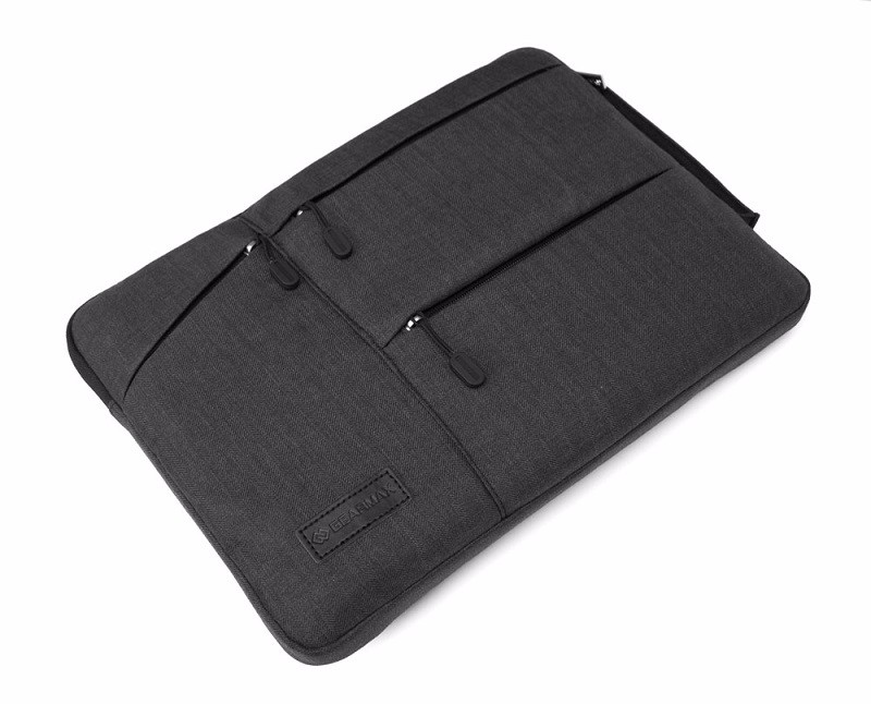 New Gearmax Laptop Sleeve Nylon Notebook Case Fashion Laptop Bag Men Black Gray Notebook Case 11 12 13 14 15.4 for laptops (13)