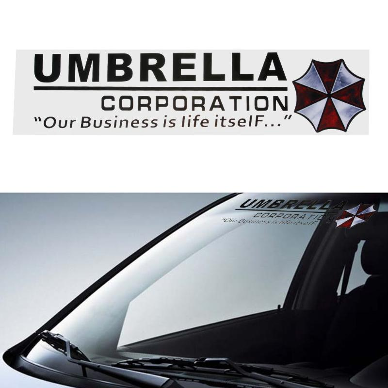 1pcs umbrella corporation car front rear windshield decal auto window sticker vinyl car decals stickers car styling accessories in car stickers from
