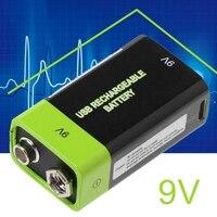 Hot Sale 6F22 9V 400mAh USB Recarregável Bateria Lipo para Multímetro Microfone Remoto