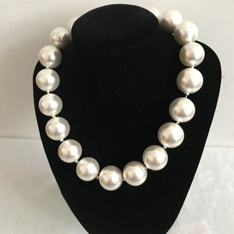 20mm Beige White Shell Pearls Necklaces Ivory Amazing Mother South