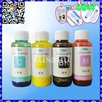 4X100ML Bulk CIS Pigment Ink Refill Set Universal For Epson Photo Printers Waterproof Oily Ink WF3620