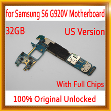 US Version for Samsung galaxy S6 G920V font b Motherboard b font 32GB for Galaxy S6