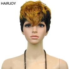 HAIRJOY женские 2 тона термостойкие синтетические волосы двойной цвет Короткие вьющиеся вечерние косплей парик 3 цвета