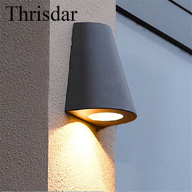 Thrisdar 5w 10w outdoor garden porch wall light ip65 waterproof thrisdar 5w 10w outdoor garden porch wall light ip65 waterproof retro up down wall sconce lamps audiocablefo