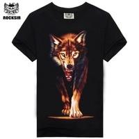 Hot Sale Brand New Fashion Summer Men T Shirt 3d Print Nightmare Tiger Short Sleeved Casual