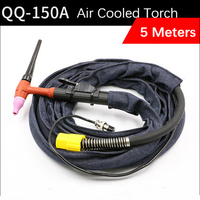 Free Shipping 5Meter QQ 150A Air Cooled Torch Gas electric One Argon Arc Welding Torch High temperature resistant silicone