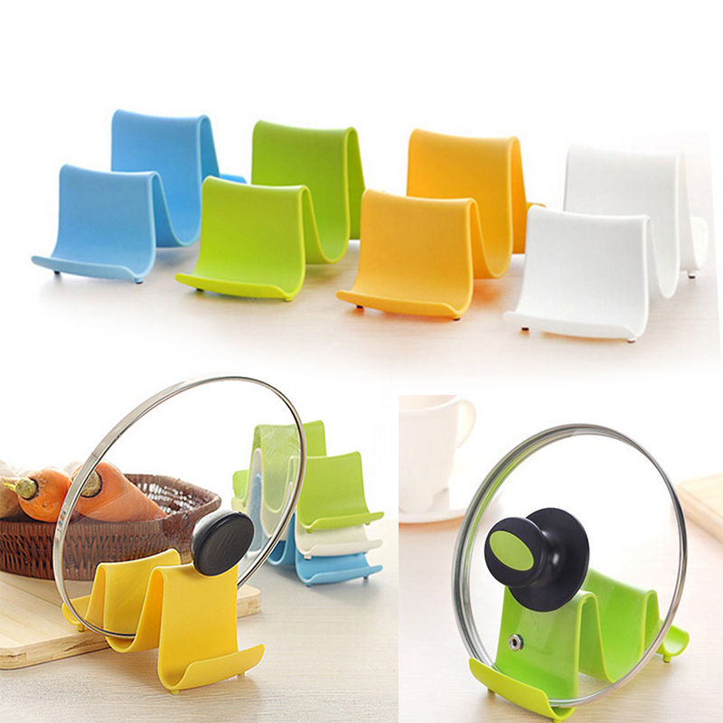 1PCS Wave Style Pan Pot Cover Spoon Lid Rack Rest Stand Holder Kitchen Utensil Hot Item