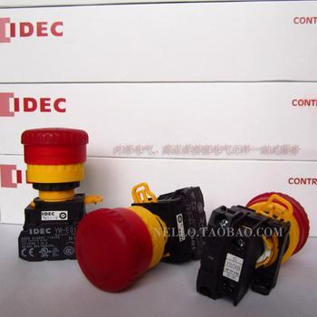[ SA ]IDEC Izumi of Japan illuminated emergency stop switch 22mm YW1L-V4E01QM3R 1 NC LED AC220V--10PCS/LOT