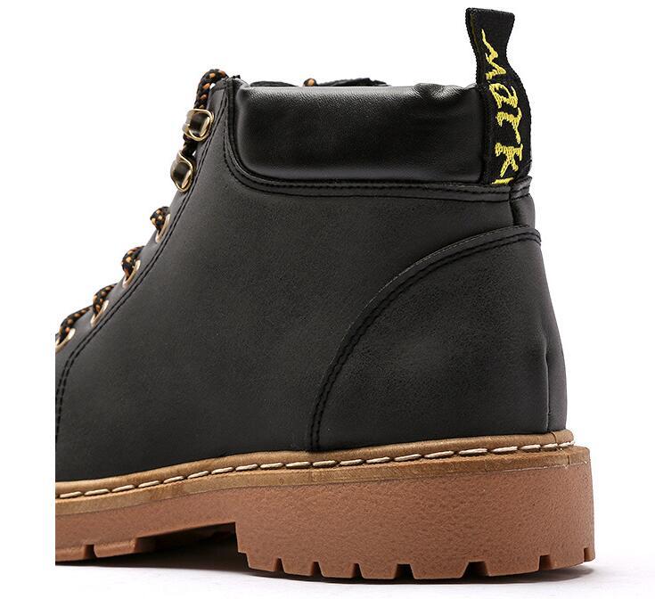 Amshca todos os jogos homens botas de trabalho outono lazer tornozelo boot para o homem adulto plataforma de segurança masculino bota cor preto cinza amarelo marrom - 4