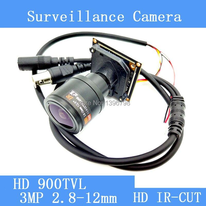 Mini 1.3MP HD Color 900TVL CMOS CCTV Camera Module 3MP 2.8-12mm Lens IR-CUT dual-filter switch surveillance cameras hkes 8pcs lot hd cmos color 1200tvl built in ir cut filter analog camera module with cs lens 8mm