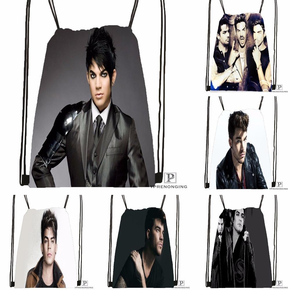 Custom Adam Lambert Drawstring Backpack Bag for Man Woman Cute Daypack Kids Satchel Black Back 31x40cm