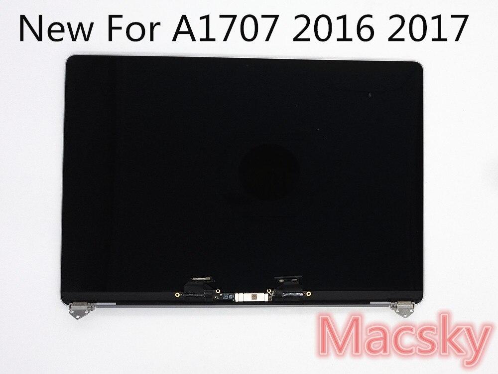 New Original LCD Full LED L'assemblée Pour Macbook Pro Retina 15 Pouces 15 A1707 LCD LED Assemblée D'affichage 2016 2017 Année Gris Argent