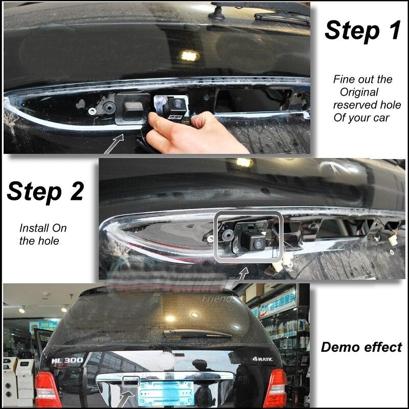 Original Vorbehalten Loch Auto Kamera Für Mercedes Benz ML M MB W164 ML350 ML330 ML63 ML450 ML500 Rückansicht BackUp liisLee CAM