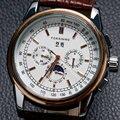 2016 новая мода Forsining Кожа мужчины мужской часы derss стильный классический дизайн механические с автоподзаводом ветер наручные часы подарок W182601