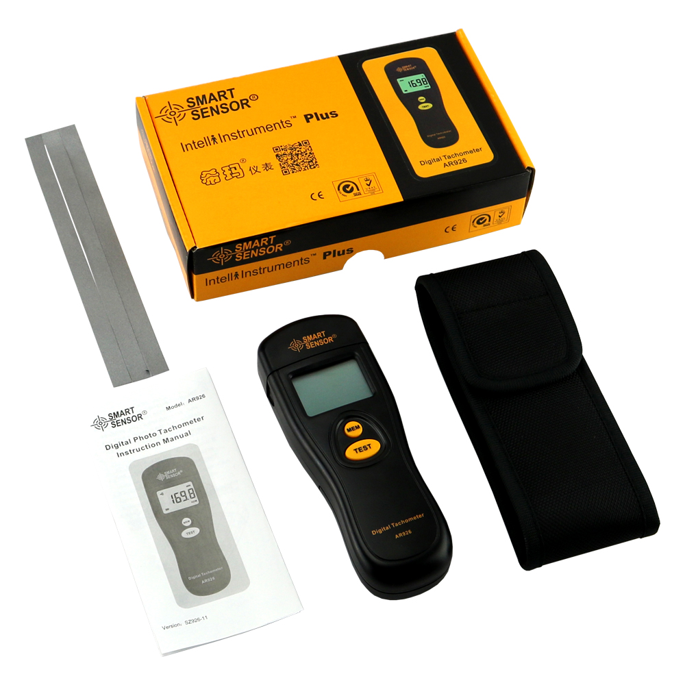 Tacómetro digital Medidor de velocidad de rotación Probador de rpm - Instrumentos de medición - foto 6