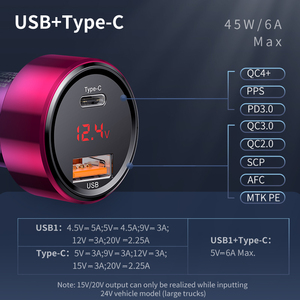 Image 3 - Baseus 45W Quick Charge 4.0 3.0 Usb Car Charger Voor Iphone Xiaomi Samsung QC4.0 QC3.0 Qc Type C Pd auto Snelle Mobiele Telefoon Oplader