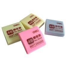 Gommes à crayon 4B couleurs Beige pour dessin et écriture, fournitures scolaires et de papeterie pour enfants