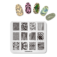 New Nail Stamping Plates 7 8CM Beauty Image Design 1PC Nail Art Stamp Plate DIY Stamp