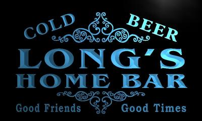 x1086-tm Longs Home Bar Beer Custom Personalized Name Neon Sign Wholesale Dropshipping On/Off Switch 7 Colors DHL