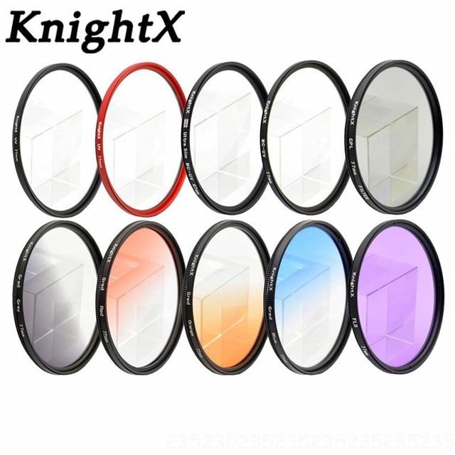 KnightX MCUV UV HD Kamera lens filtre Sony Canon Nikon Pentax OLYMPUS sjcam sj5000 git pro eos 1200d sjcam 4000 dslr lensler