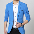 Hot Selling Autumn Winter Men Blazers Full Sleeve Single Breasted Coat Slim Turn-down Collar Classic Style High Quality 4 Colors
