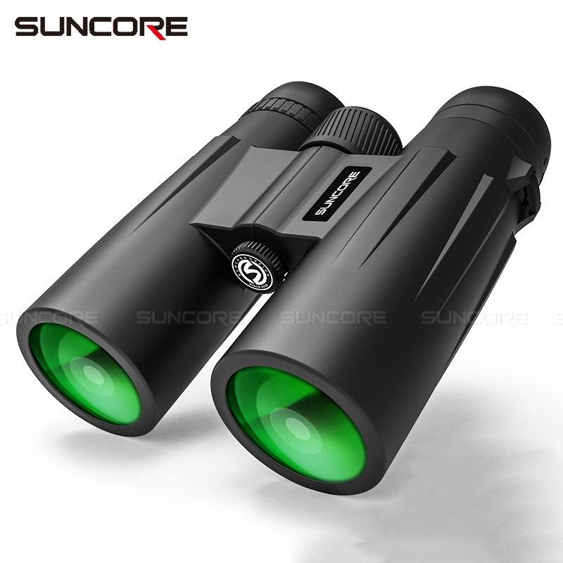 12x42 Binoculars High Power HD Telescope BK4 Prism Optical Lenses Outdoor Hunting Bird Watching Camping