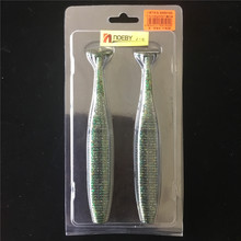 Noeby 6PC Silicone bait Fishing lure T tail worm 17cm/39g Soft lures Artificial bass baits Swimbait Fishing gear fishing bait