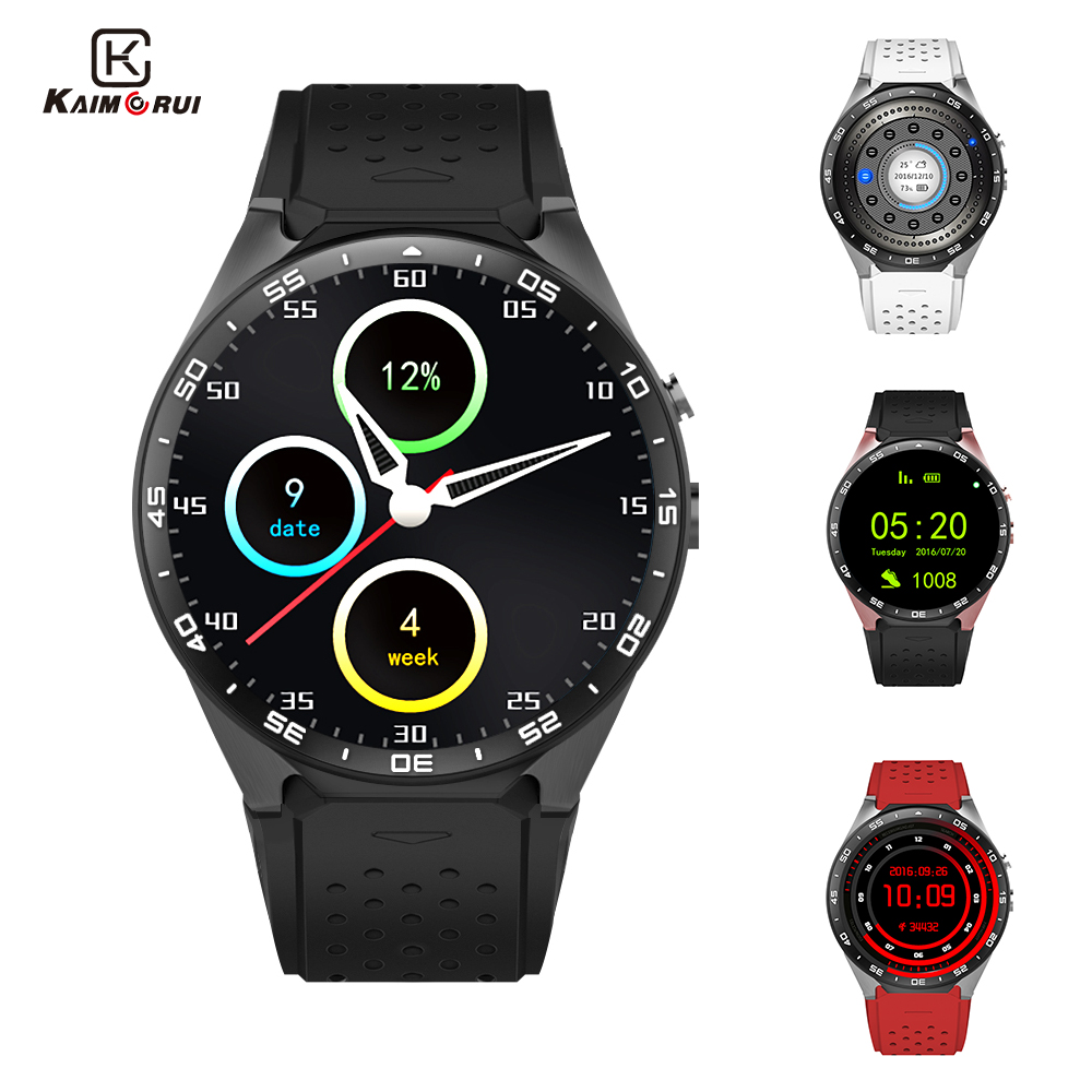 Kaimorui KW88 Smart Watch Android 5 1 MTK6580 Quad Core 1 3GHZ 1 39 Inch 512MB
