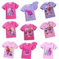 2017 recién llegado de Trolls T shirt de dibujos animados niños y niñas camiseta POLI ROBOCAR Cartoon Kids summer T-shirt Kids Envío Gratis