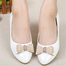 Bogen Spitz flache schuhe frauen slip auf Büro Partei einzelnen Schuhe frau ballerinas frauen Weiches Leder Loafers Flache Heels