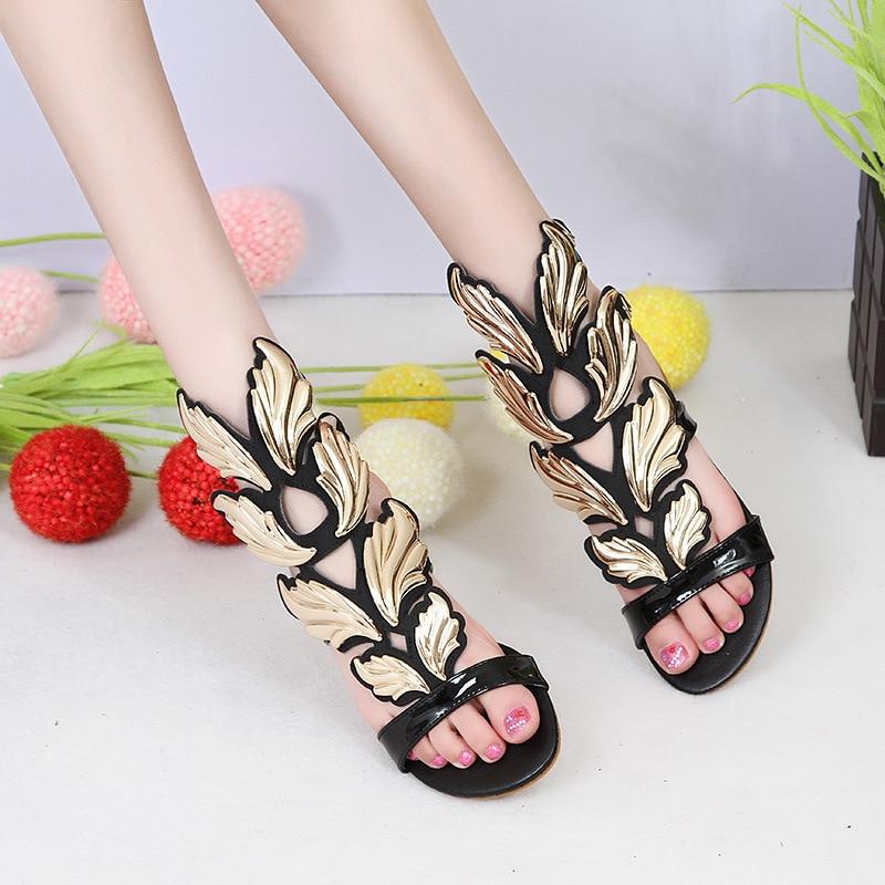 Carole Levy/Женская обувь в гладиаторском стиле; сезон лето; черные женские модные пикантные удобные сандалии на плоской подошве; женские Вечерние Босоножки с открытым носком для свиданий - 2