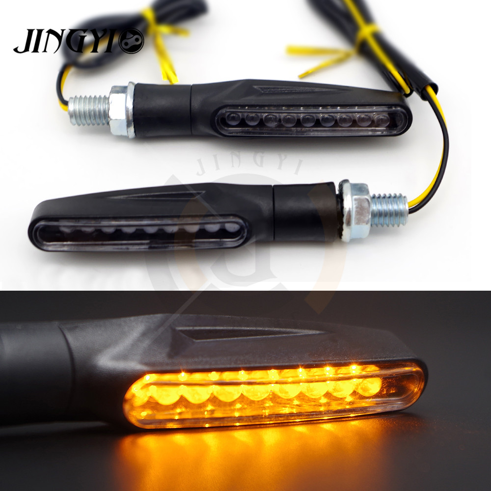 Universal Motorcycle Turn Signals Lights LED Turn Signal Lamp Motorbike Scooter Amber Indicators FOR DUCATI Street Fighter