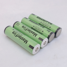 MasterFire 10pcs/lot New Original Protected CGR18650CG 18650 3.7V 2250mAh Rechargeable Lithium Battery with PCB For Panasonic