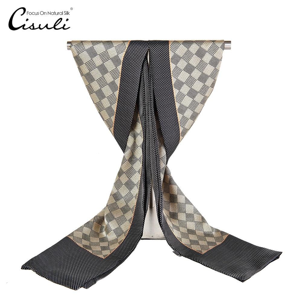 Aufrichtig Cisuli 100% Silk Schal Männer Schals 26x160 Cm Neue Desigual Klassische Gedruckt Muster Hohe Qualität Geschäftsleute Schal Großhandel Beige Eleganter Auftritt