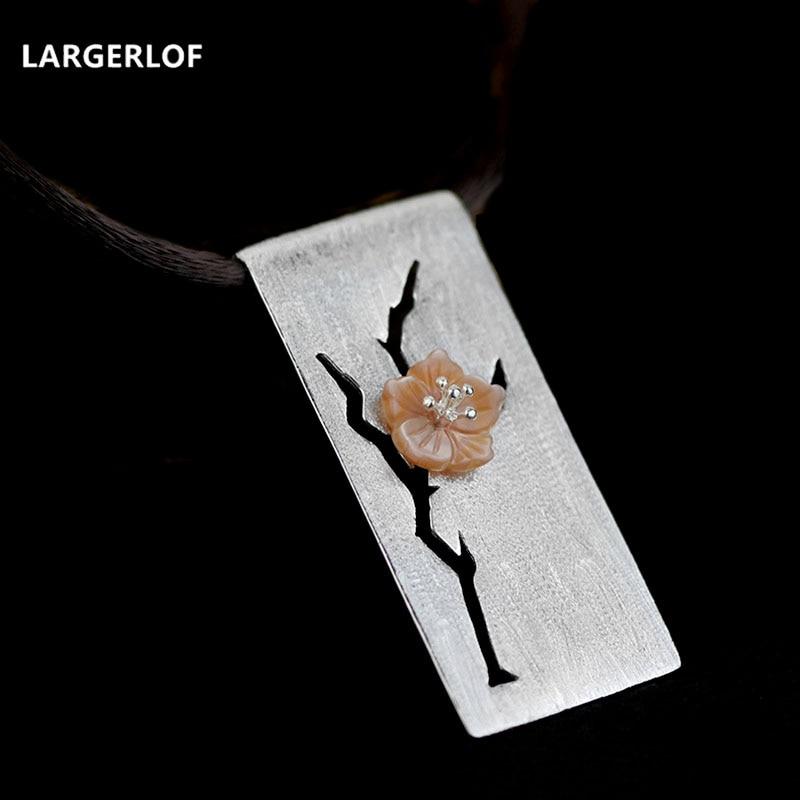 LARGERLOF 925 pendentif en argent Collier Pendentif Mode 925 Argent bijoux Femmes Colliers N049