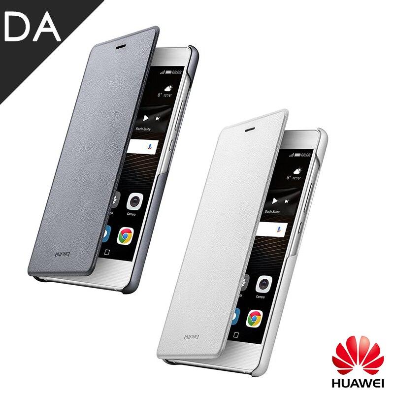 imágenes para Original Huawei Cubierta Del Tirón lite G9 G9 Plus Ventana Caso de Alta calidad de LA PU Cubierta de Cuero para Huawei Teléfono P9 Lite Carcasa Funda