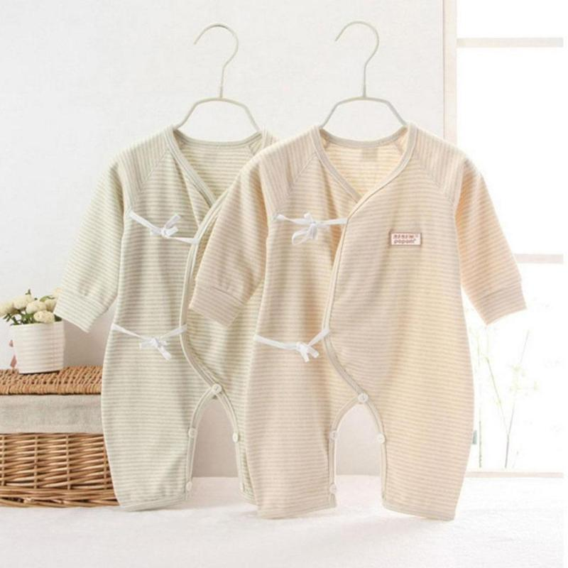 Organic cotton Baby romper Soft Newborn Baby Boy Girl Romper Clothes Long Sleeve Infant Product Baby clothing set RA5-12H hy130 organic cotton baby s snap long sleeve infant romper cloth blue size l