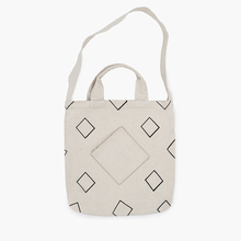 MOREUSEE natural and original cotton shoulder&handbags for girls in Geometry Diamond Series light traveling (FUN KIK)