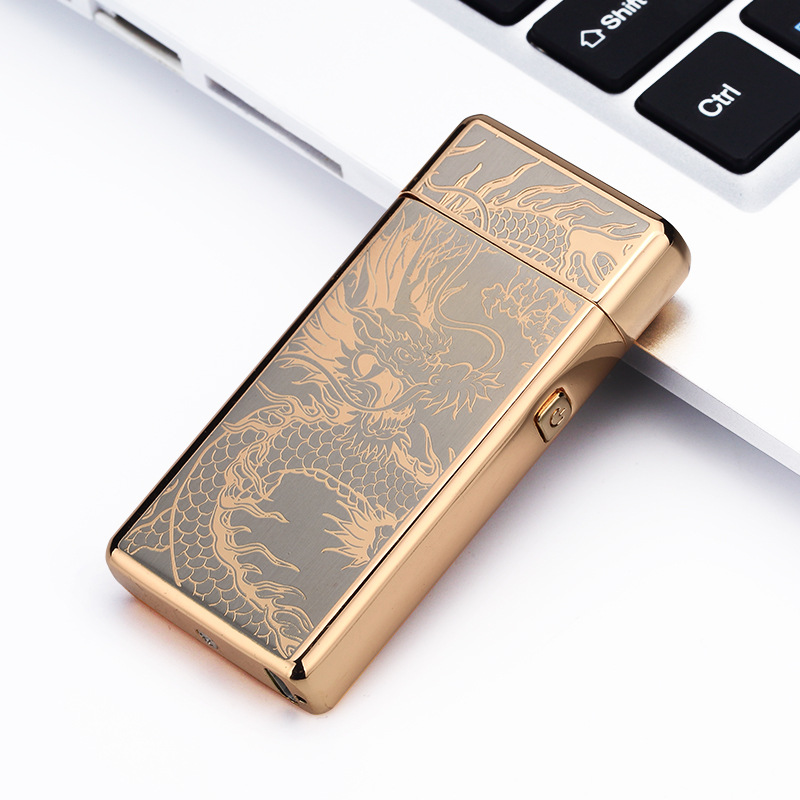 Metal Windproof Electronic Lighters Charging Double Arc Usb Charging Electric Plasma Pulse for Smke Pipe Cigarette Cigar in Cigarette Accessories from Home Garden