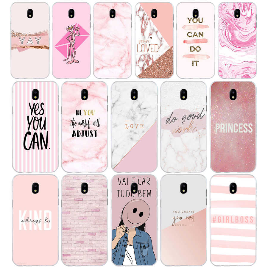 211SD Chic Pink Marble Pretty design Soft Silicone Tpu Cover phone Case for Samsung j3 j5 j7 2015 2016 17 j2  prime j6 Plus 2018
