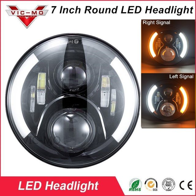 7 inch 60w led protection headlights kit motorcycle drl turn signal harley headlight diagram 7 inch 60w led protection headlights kit motorcycle drl turn signal halo ring angle eyes for